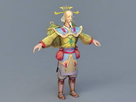 Ancient Chinese Physician 3d model