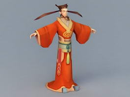 Song Dynasty Official 3d model