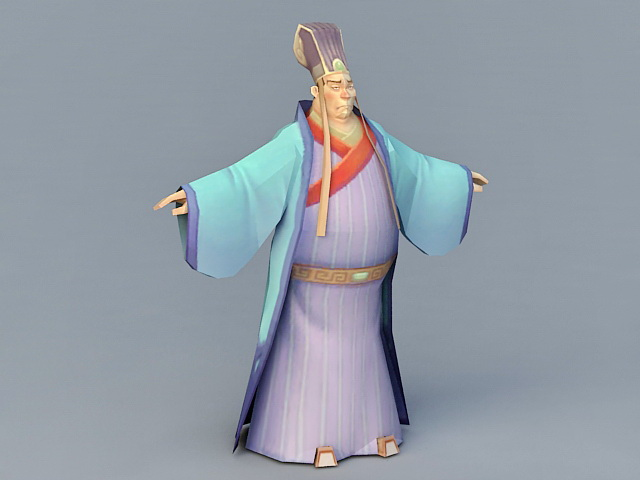 Ming Dynasty Official 3d model