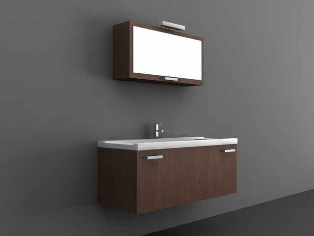 Wall Mount Bathroom Sink Cabinet 3d model