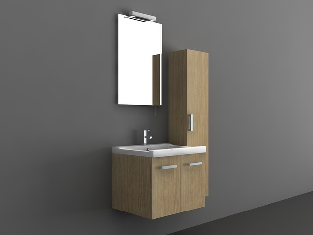 Small Vanity Sink Cabinet 3d model