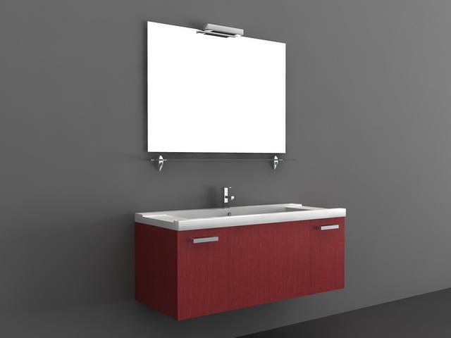 Red Modern Bathroom Vanities