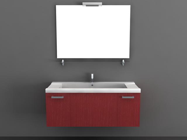 Red Modern Bathroom Vanities 3d Model 3d Studio 3ds Max Autocad Files Free Download Modeling