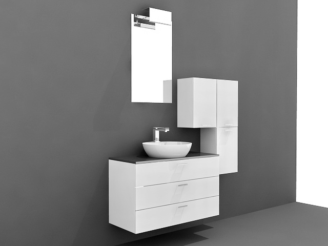 Small Modern Bathroom Vanities 3d Model