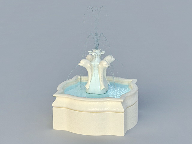 Dolphin Water Fountain 3d Model 3ds Max Files Free