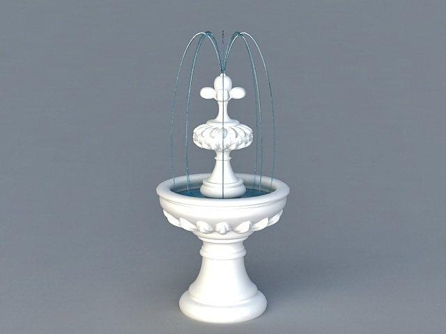 Garden Fountains 3d model