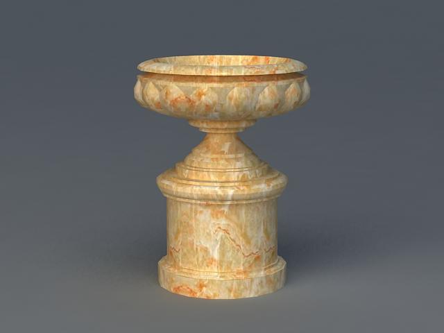 Stone Flower Pot 3d model