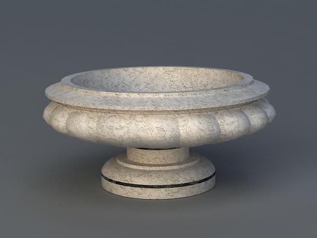 Stone Garden Flower Pot 3d model