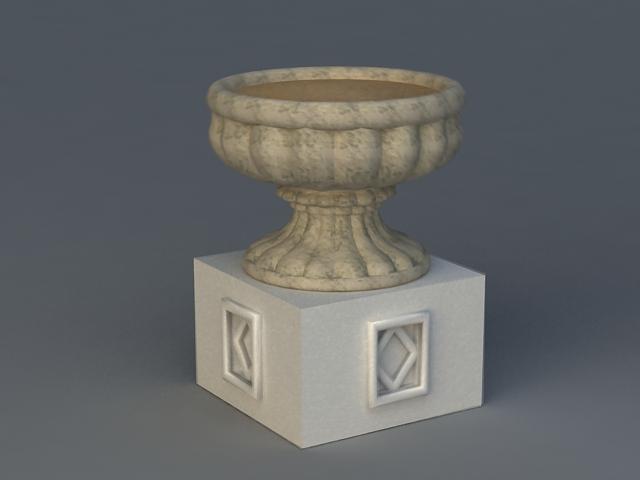 Natural Stone Flower Pot