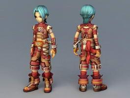 Anime Warrior Boy 3d model
