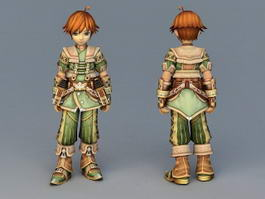 Anime Mercenary Boy 3d model