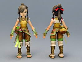 Medieval Rogue Anime Character 3d model