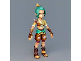 Medieval Anime Boy 3d model