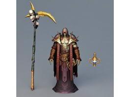 Death Grim Reaper Art 3d model