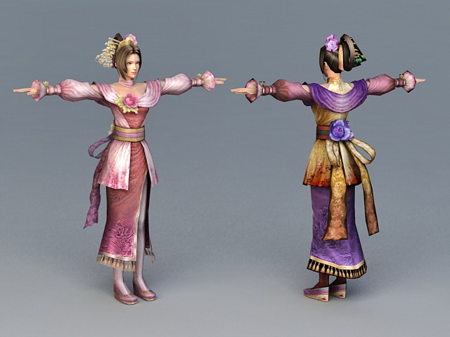 Ancient Chinese Dress Girl