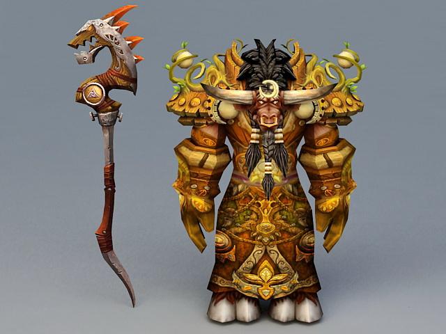 Tauren Druid Art 3d model