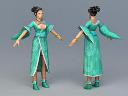 Ancient Chinese Peasants Woman 3d model