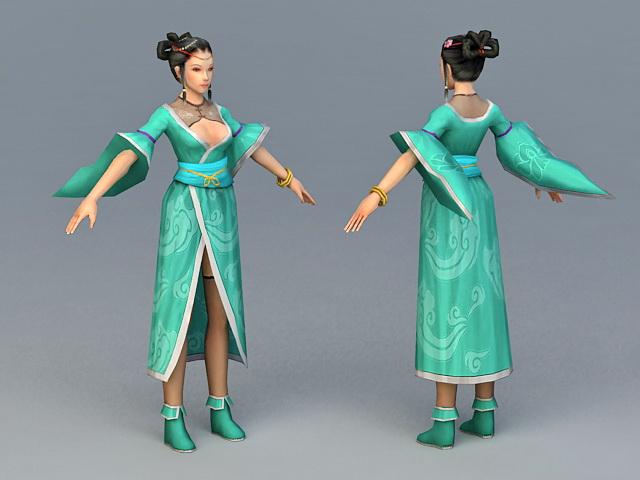 Ancient Chinese Peasants Woman