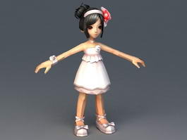 Little Girl Princess 3d model