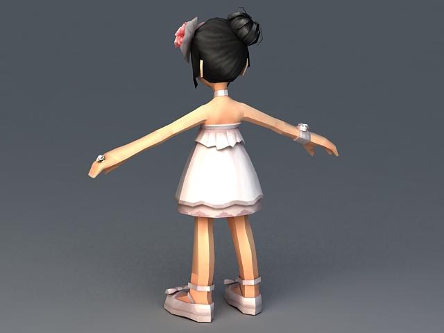 Pretty Teenage Girl 3d model Maya files free download