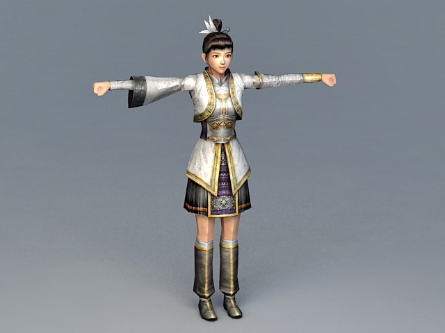 Female Imperial Guard 3d model