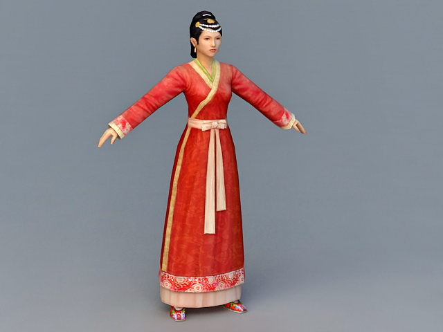Chinese Han Dynasty Woman 3d model