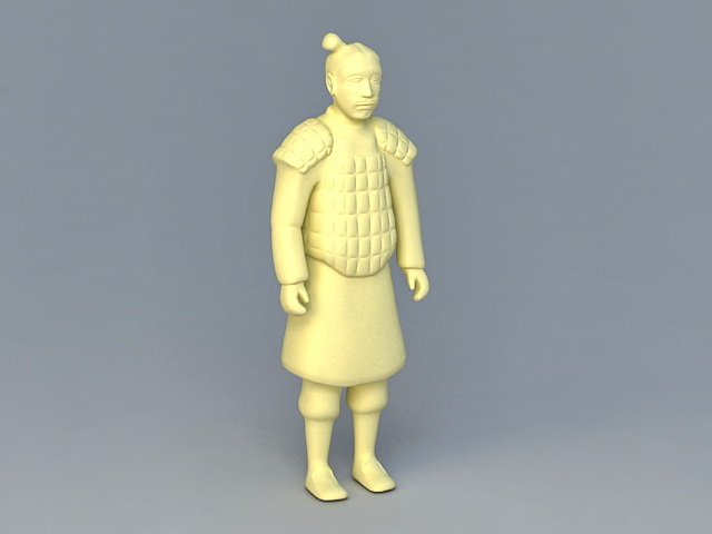 Qin Dynasty Terracotta Warrior 3d Model 3ds Max Files Free