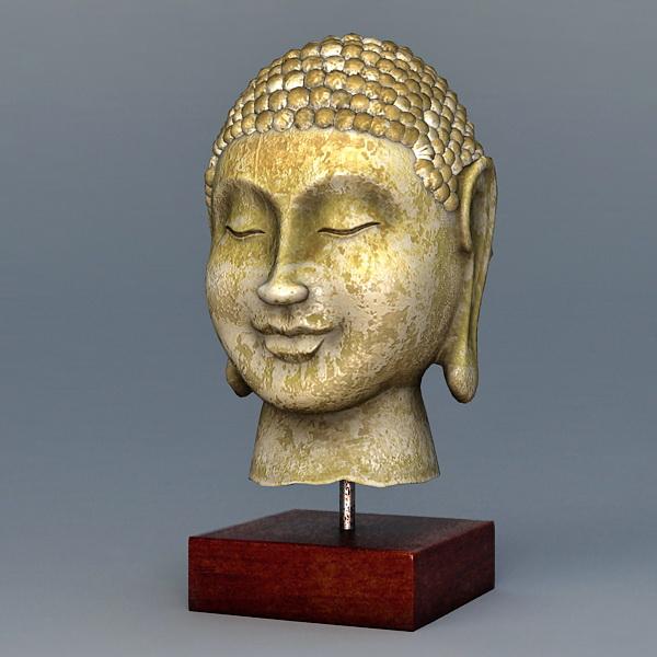 Oldest Buddha Head Statue