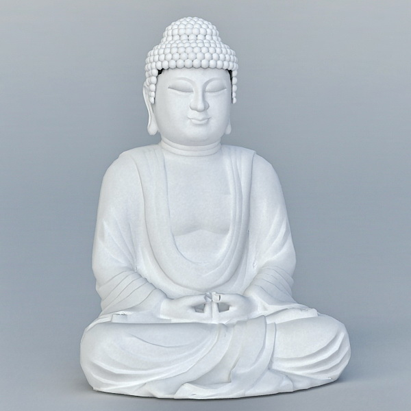 Chinese Buddha Statue 3d model
