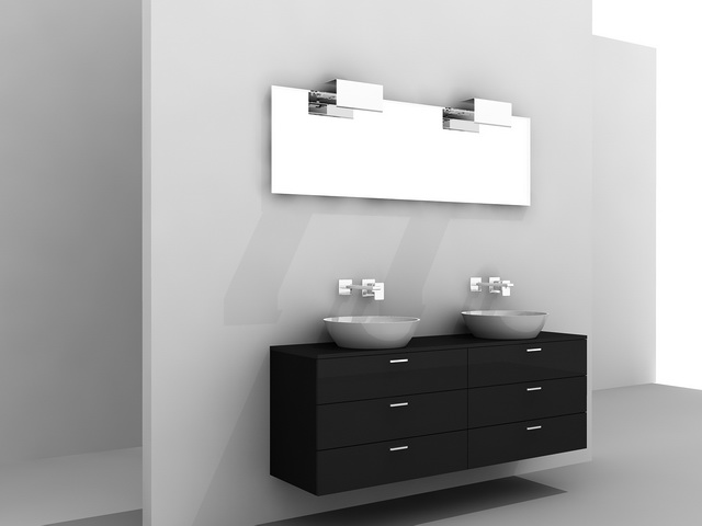 Bathroom Vanity Black 3d model