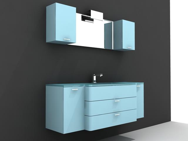 Blue Modern Bathroom Vanity