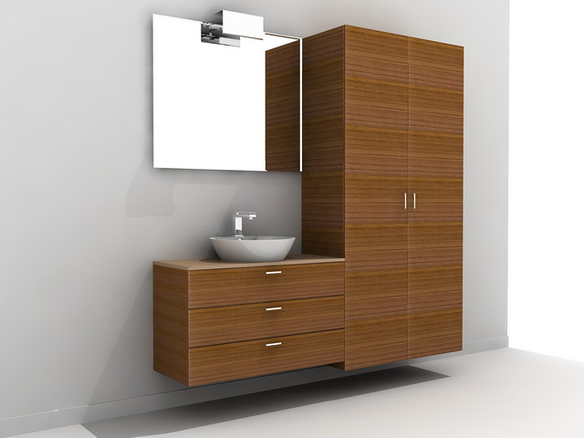 Tall Bathroom Vanity Cabinet 3d model