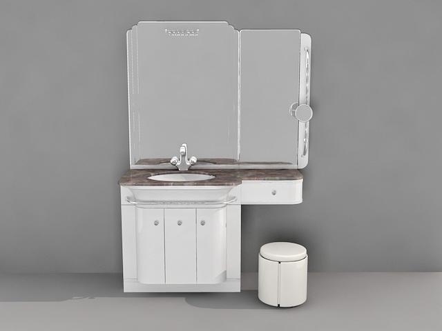 Bathroom Makeup Vanity 3d Model 3d Studio 3ds Max Autocad