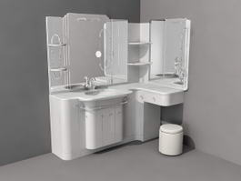 Bathroom Vanity with Sitting Area 3d model