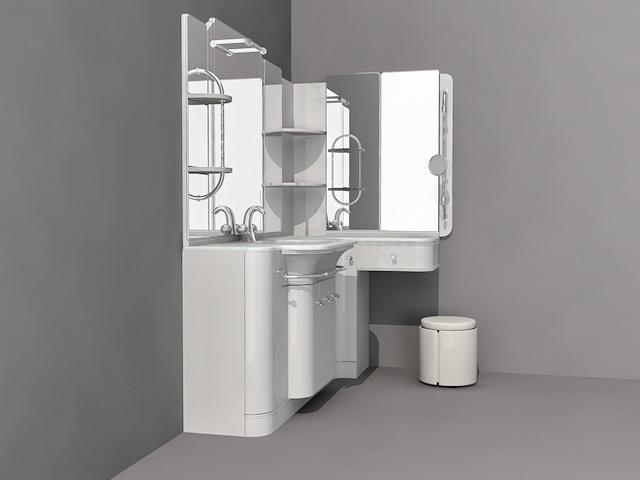 Bathroom Vanity with Sitting Area
