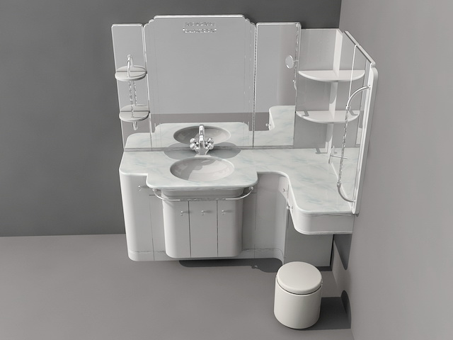 bathroom vanity with sitting area 3d model 3d studio 3ds Master Bedroom Fireplace Seating Area Bathroom Vanity with Seating Area