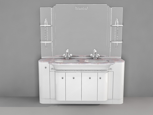 sink and vanity combo. 3D Model Of Double Sink Bathroom Vanities With Top  Available 3d File Format 3ds Studio Dwg AutoCAD Max Autodesk Max Texture Jpg Bathroom Double Sink Vanity Combo