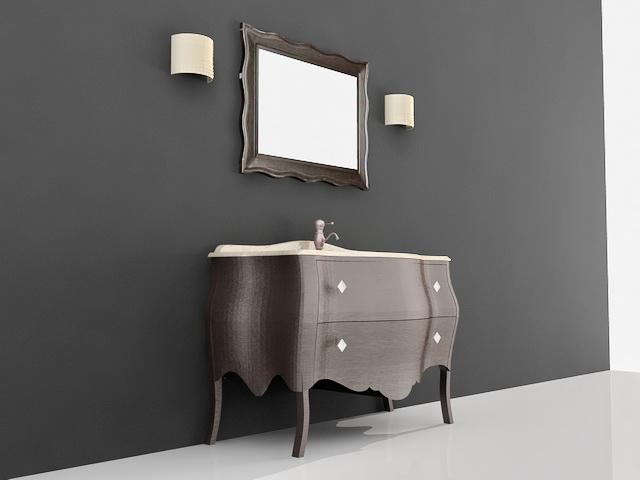 Free Standing Bath Vanity Cabinet 3d model