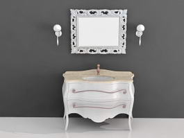 French Antique Bathroom Vanities 3d model