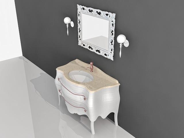 French Antique Bathroom Vanities 3d Model 3d Studio 3ds Max Autocad Files Free Download