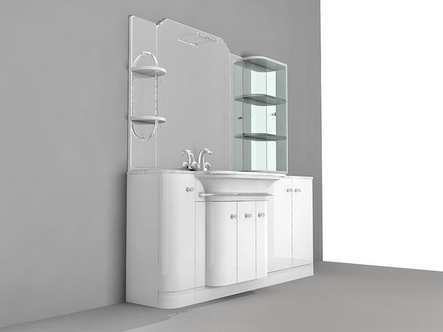 Bathroom Cabinet Idea 3d model