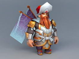 Anime Dwarf Gladiator 3d model