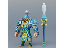Anime Dwarf Warrior 3d model