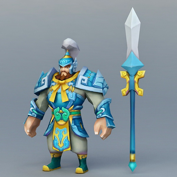 Anime Dwarf Warrior 3d Model 3ds Max Files Free Download