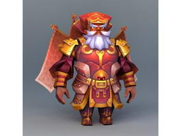 Dwarf Gladiator Red 3d model