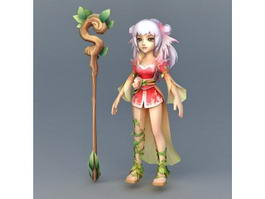 Chinese Witch 3d model