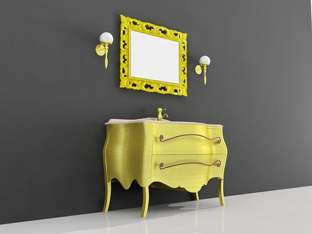 Modern Yellow Bathroom Vanity