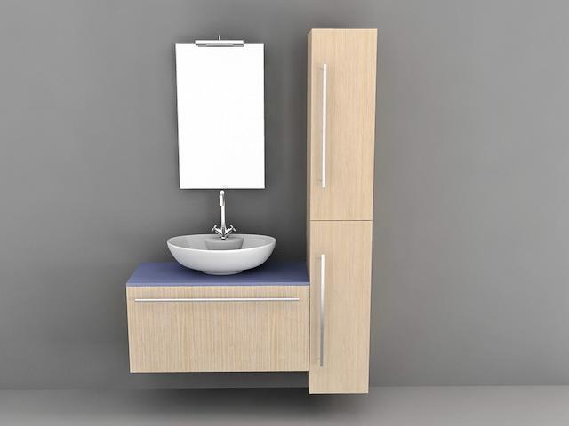 Bathroom Vanity Tall Storage Cabinets 3d Model 3d Studio