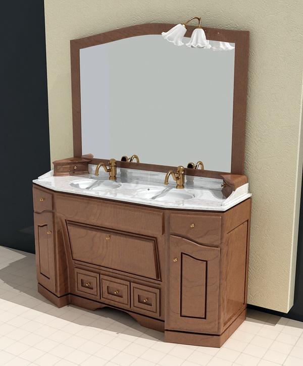 vintage style bathroom vanity 3d model