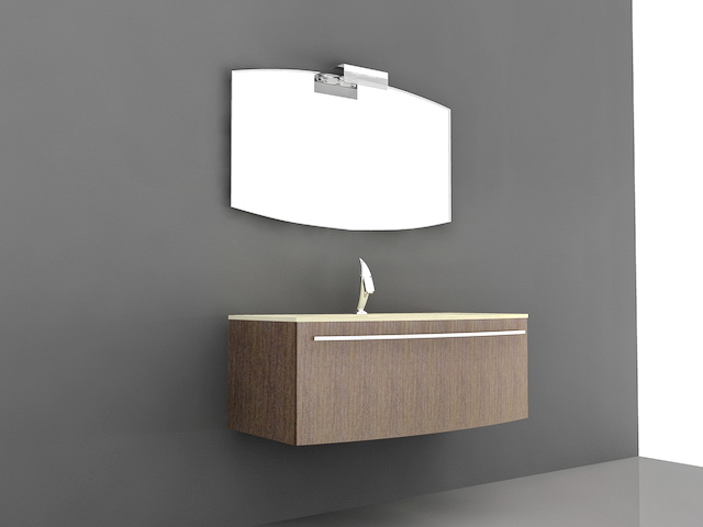 Floating Bathroom Vanity Single Sink 3d model